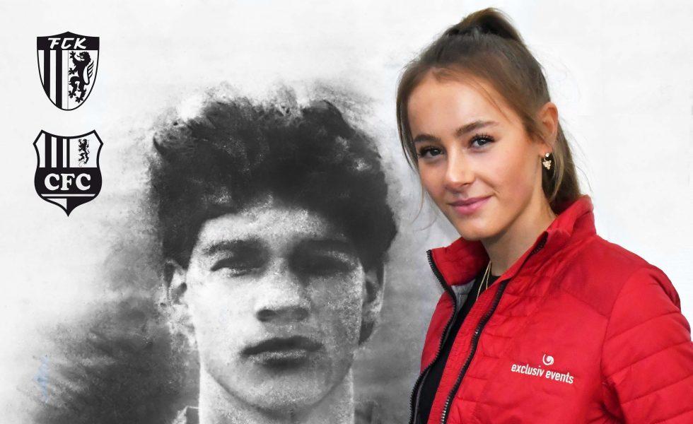 Valentin-o Models als VIP Hostess beim Chemnitzer FC